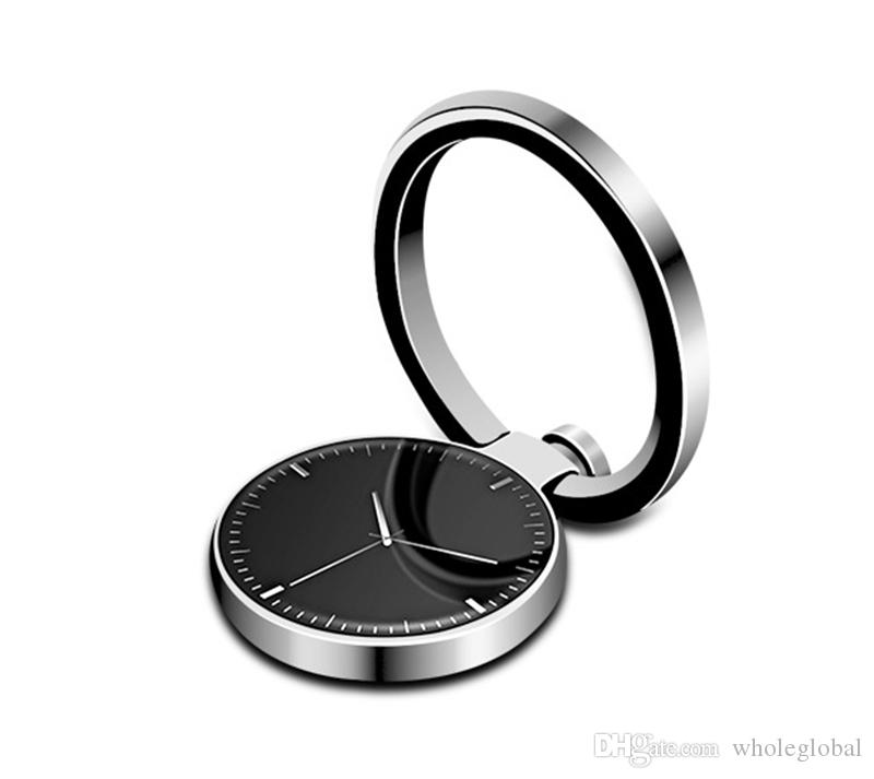 Watch Finger Ring Holder Universal Mobile Phone Smartphone Watch Shape Stander Finger Grip for iPhone Smart Phone
