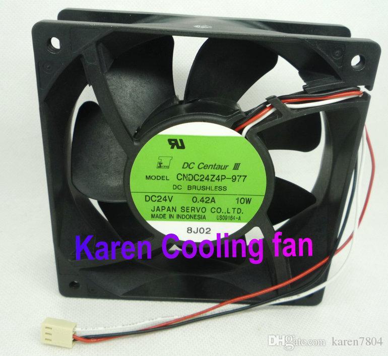 日本サーボ12CMインバータファン12038 24V 0.42A CNDC24Z4P-977 3-Wire CPUクーラーヒートシンクアキシャル冷却ファン