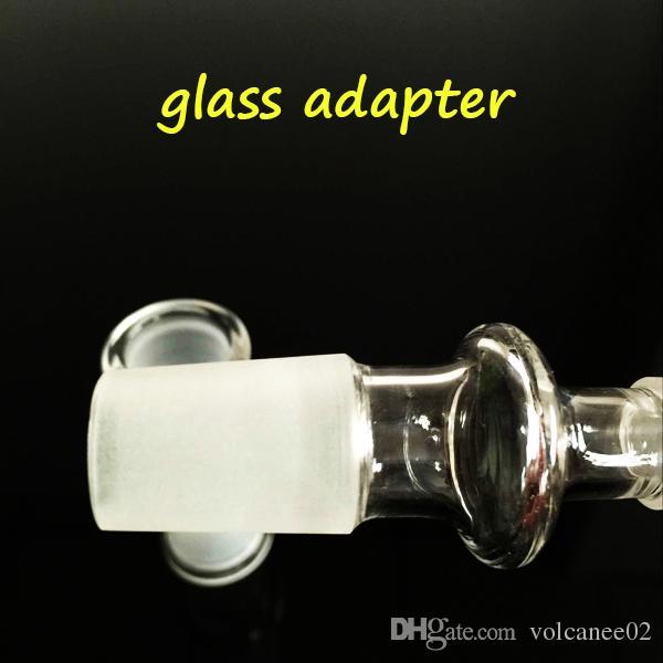 adaptador de vidro para baixo adaptadores de atacado para bongos de 18 mm a 14 mm com macho feminino boca de moagem clara conjunta adaptador de vidro mais quente