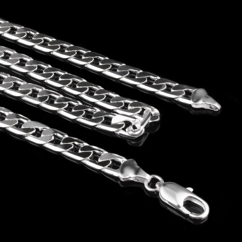 2017 Sıcak 925 Ayar Gümüş kaplama 7mm 16 '' 18 '' 20