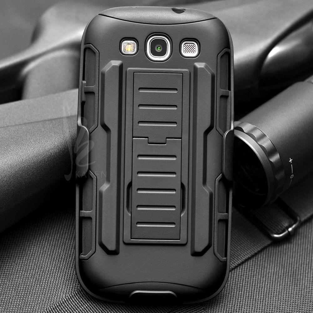 bc9580336ab Fundas De Moviles Estuche Rígido A Prueba De Golpes Future Armor Impact  Para Samsung Galaxy S3 I9300 S3 Neo I9300i S3 Duos Funda + Flim + Touch  Stylus ...