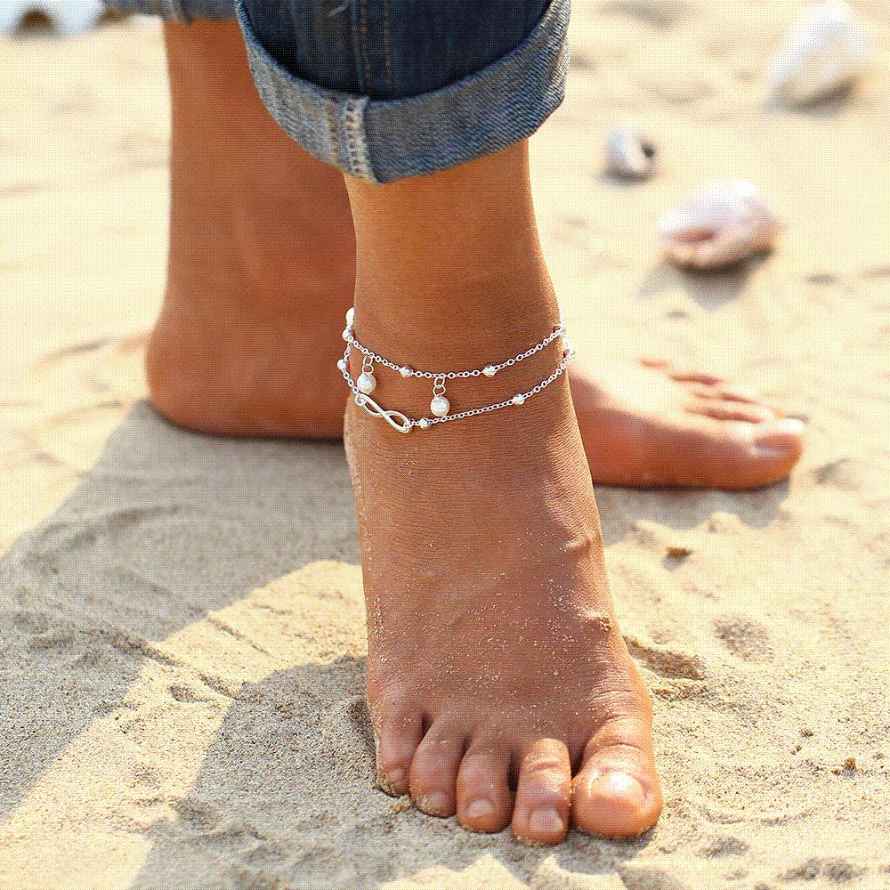 ankles foot round ankle barefoot jewelry multilayer sandals slave anklet leg from pcs chunky big anklets item flower lots chain in on for bracelet gift