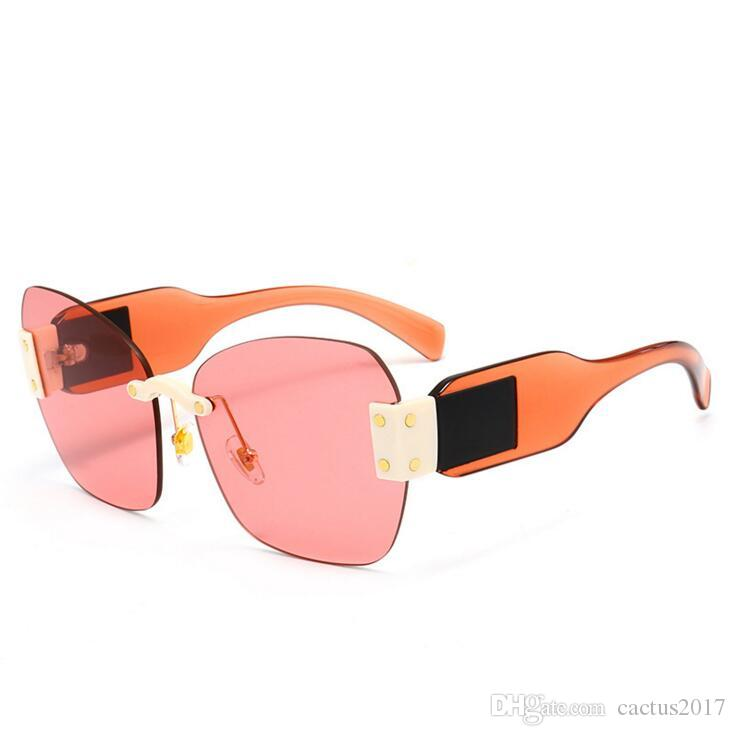 6cd85238b9df3 Stars Trending sunglasses pink 2018 women s transparent square rimless  luxury oversized sun glasses fashion brand designer deal with it