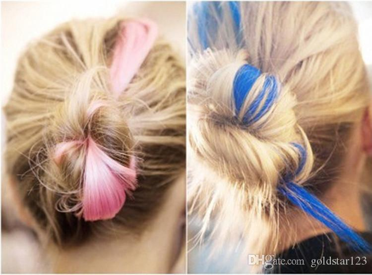 Fashion hair extension for women Long Synthetic Clip In Extensions Straight Hairpiece Party Highlights Punk hair pieces DHL