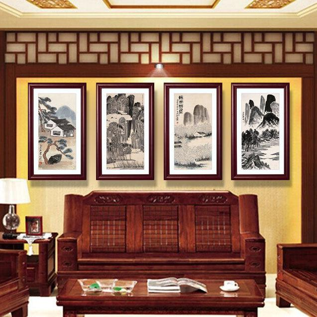 2017 mural chinese living room decorative painting framed