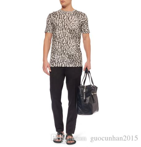 2015 الجديدة ماركة جلد طبيعي رجل النعال جرجر الأسود موضة التعادل رجل الصيف الصنادل الأخفاف عارضة مريحة الشقق الأحذية الإيطالية