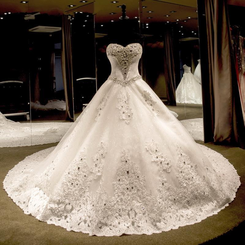 Princess Wedding Dresses With Crystals