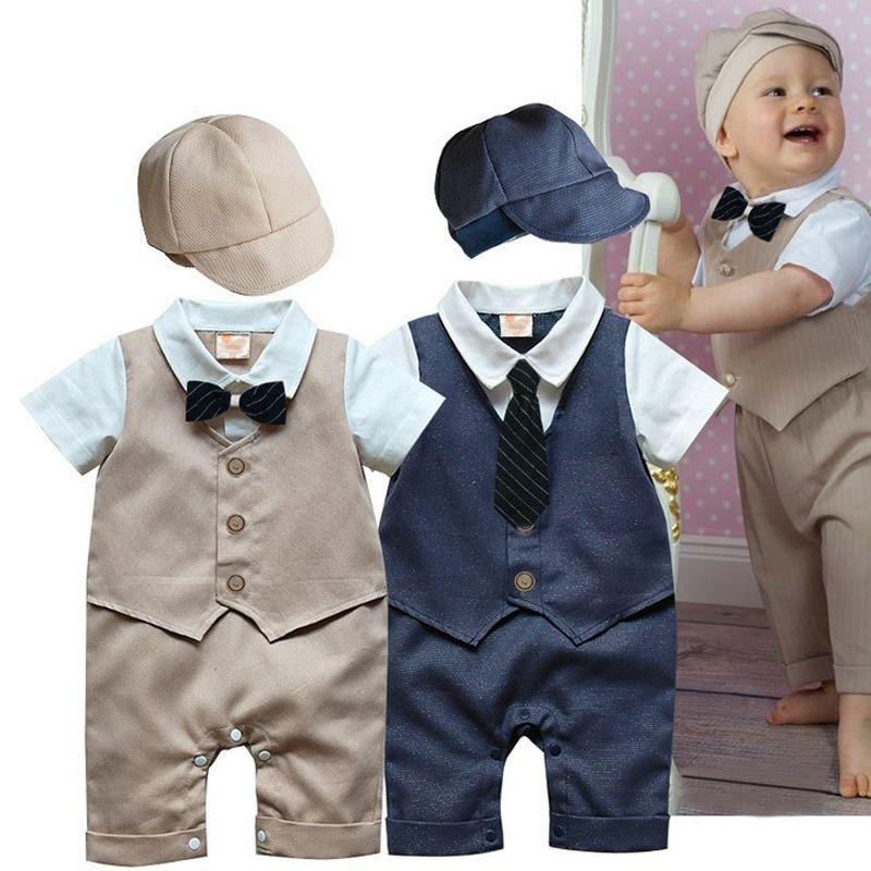 2018 Wholesale 2015 New Newborn Baby Clothes Handsome Gentleman