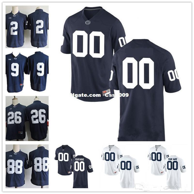 c205ff1af Custom Penn State Nittany Lions College Football Limited White Navy ...