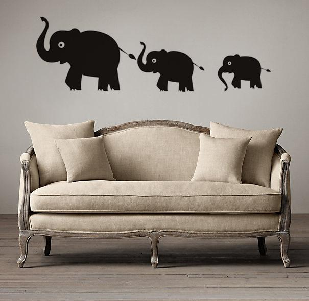 Three Cartoon Elephant Wall Decals Vinyl Stickers Home Decor