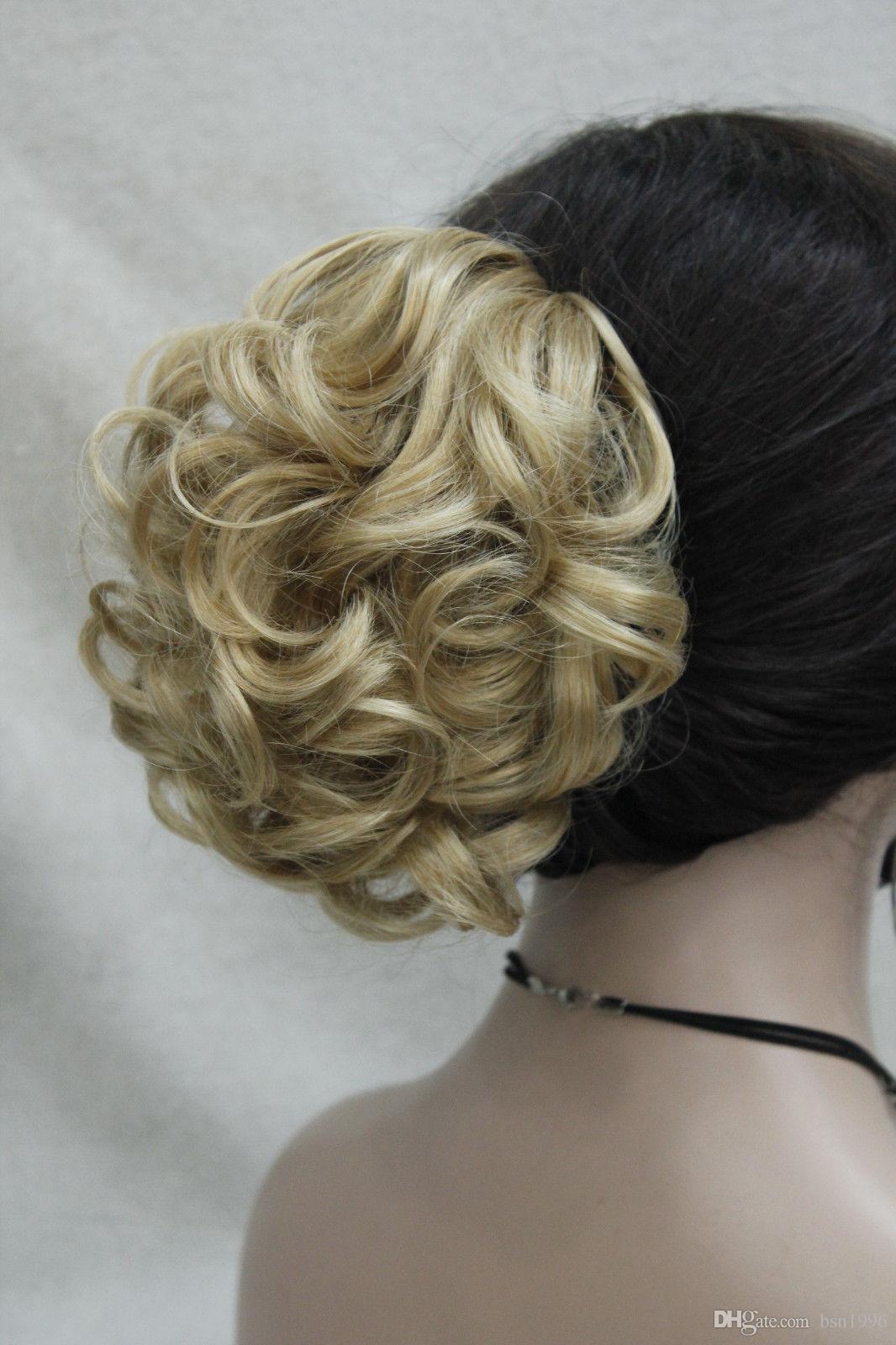 Envío libre hermosa moda Hivision corto sintético Ondulado pelo de la cola de caballo extensión Hairpiece select