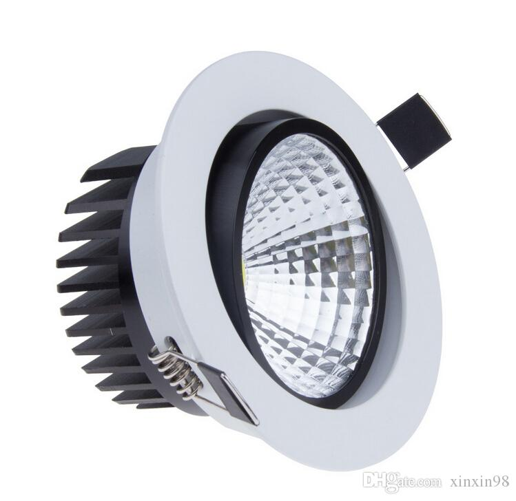Dimmable 9w 15w warmes / reines / kaltes Weiß COB führte hinunter Licht 85-265v führte Punkt vertiefte Deckenleuchte dimmbare geführte Decke downlight COB geführte Lampe