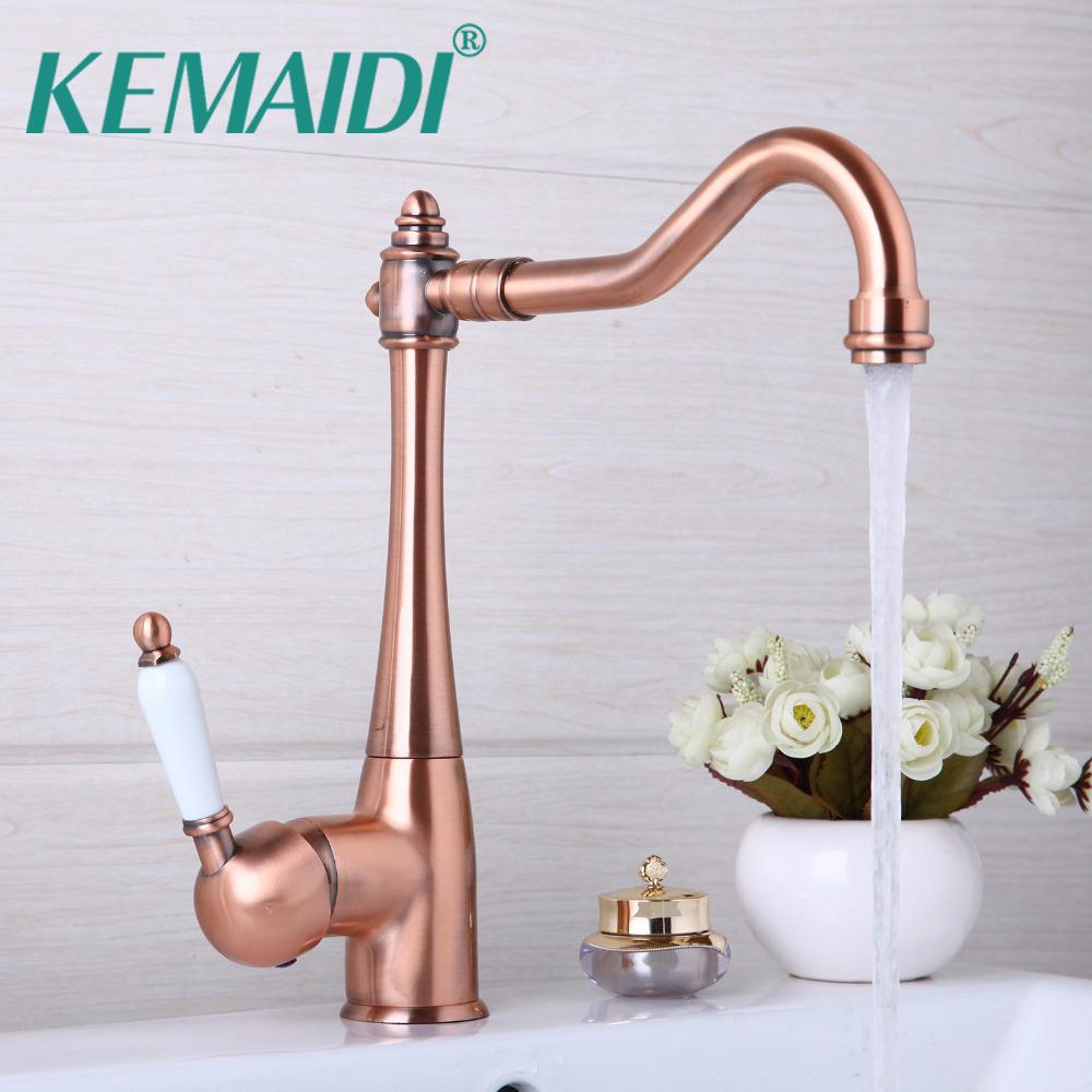 Best Kemaidi Antique Copper 360 Swivel Chrome Brass Finish Deck ...