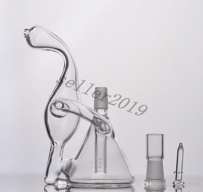 2016 High Quality new small bong mini water pipe pocket glass bong 14.4mm nail min i oil Rigs-15cm high free delivery