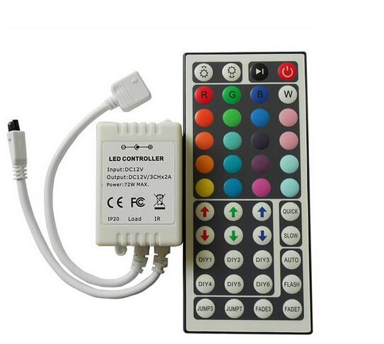 Cheap new 12V 3*2 A 44 Keys LED Controller IR Remote controller for RGB LED Strip Light 3528 SMD 5050 SMD