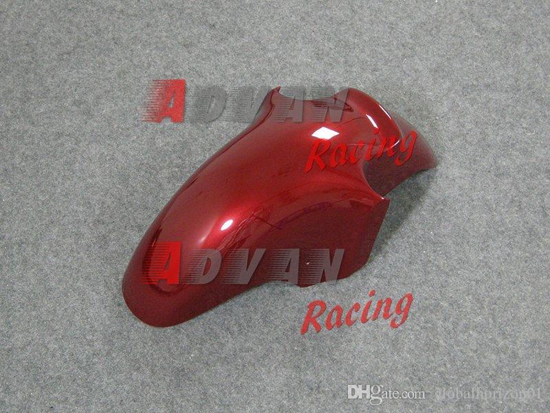 Red Glossy Fairings Kit carrozzeria Kit Kawasaki Ninja ZX12R 2002-2005 22