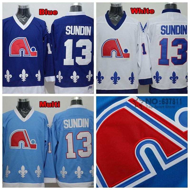 c31439921 ... 2017 Factory Outlet, MenS Quebec Nordiques Throwback Mats Sundin Jerseys  Home Navy White Baby Blue ...