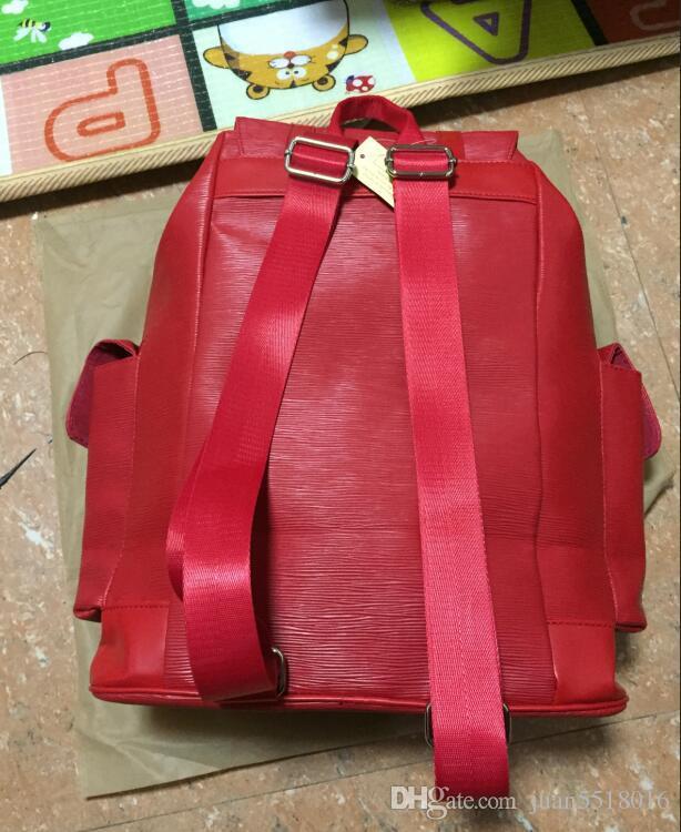 Backpacks Designer 2018 Fashion Women Lady Black Red Rucksack Bag