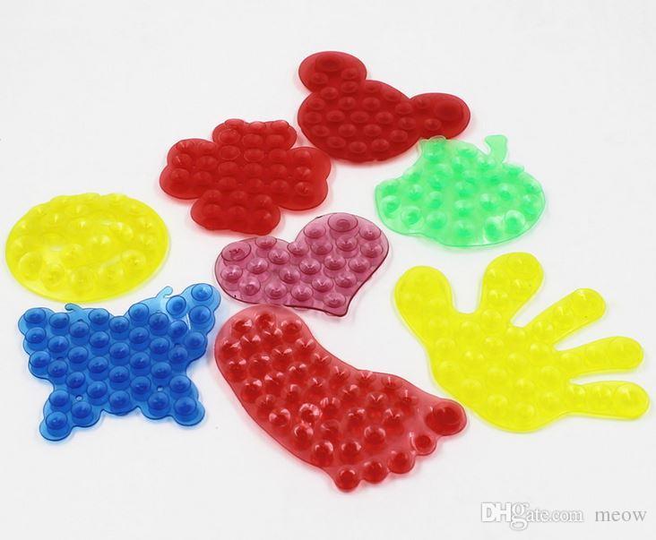 Super Saugnapf Pad Doppelseitige Saugnapf Pad Angebrachtes Gerät Magic Feet Palm Herz Schmetterling Fisch Suckers
