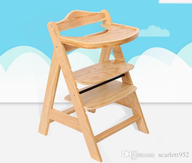 2018 Solid Wood Dining Chair Baby Safe Seat Dining Chairs Portable Adjustable 0 15 Months Child Blue And Pink From Scarlett952 $89 44 Amazing - Cool wooden chair seats Minimalist