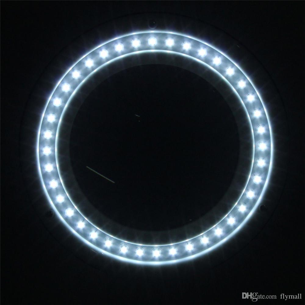 Büyüteç El Sanatları Ile Cam Masa Lambası 5X10X Büyüteç Ve 40 LED Masa Aydınlatma Masa Masa Lambası Kapalı Gece Lambası Led Ayna Lambası