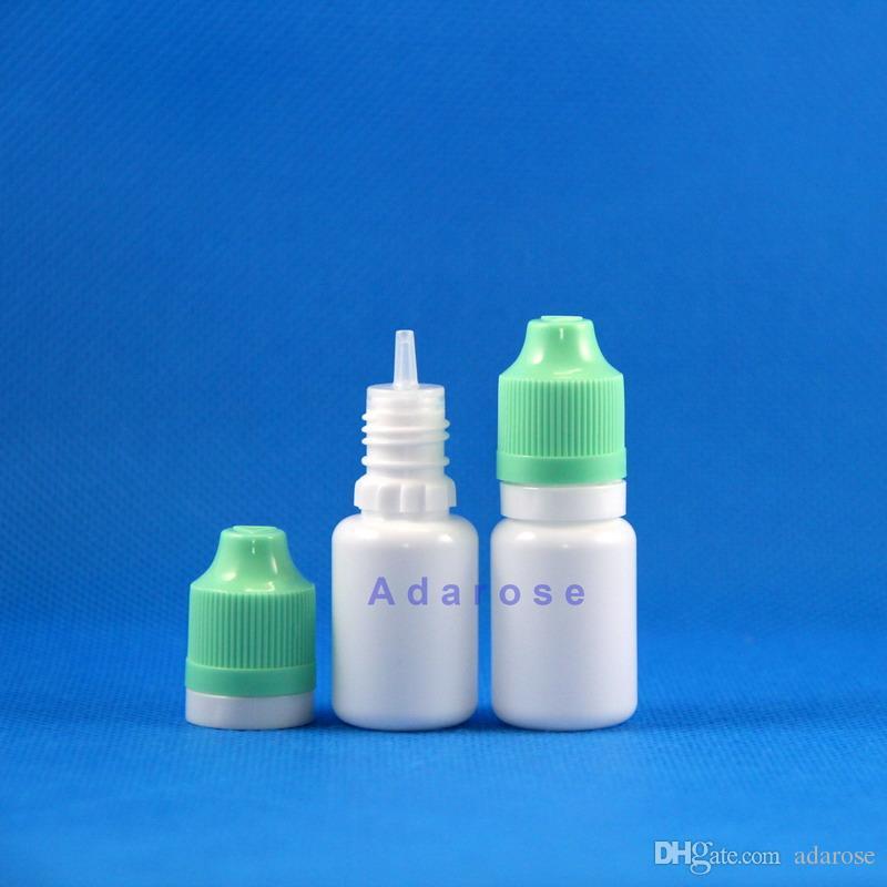 100 قطع 10 ملليلتر ldpe زجاجة بلاستيكية مزدوجة برهان مع عبث الطفل واضح بخار vape e سيج