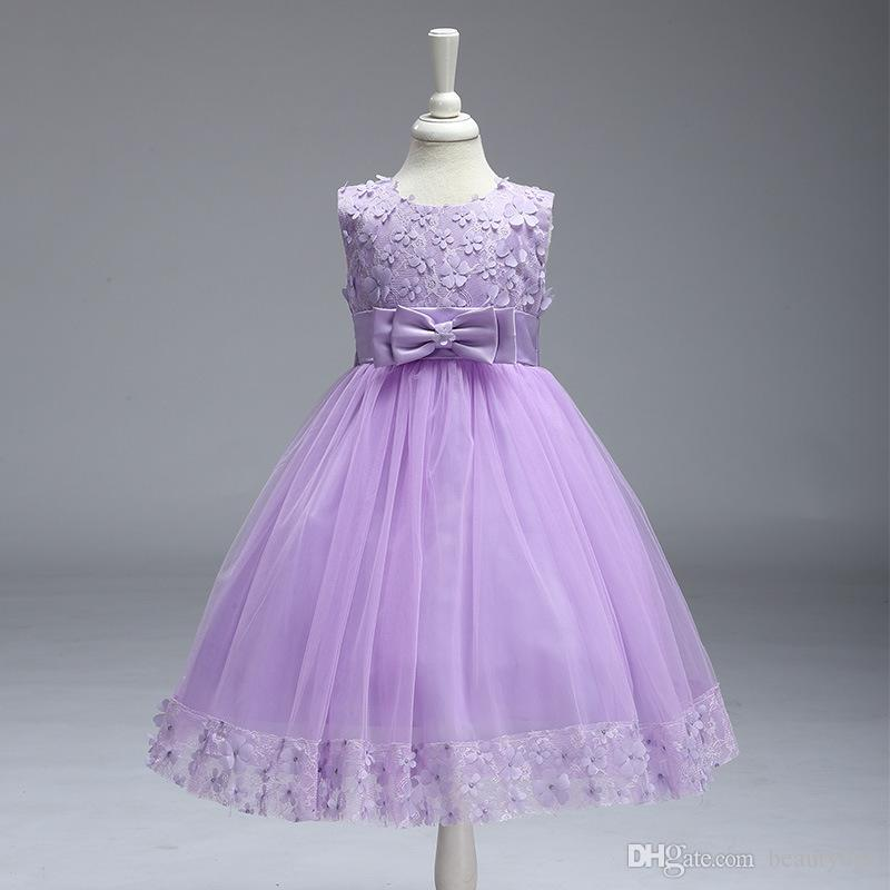 2019 Vintage Flower Girl Dresses Lovely Burgundy Clothes Mint Ivory With Lace Bow Tutu Ball Gowns In Stock Cheap