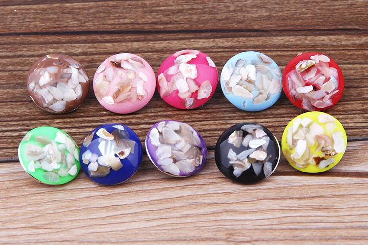 JACK88 NEW DIY Mix Styles Snaps 30 pcs/lot 18mm Shell Snap Button Fit Ginger Snap Charm Bracelet Jewelry N040
