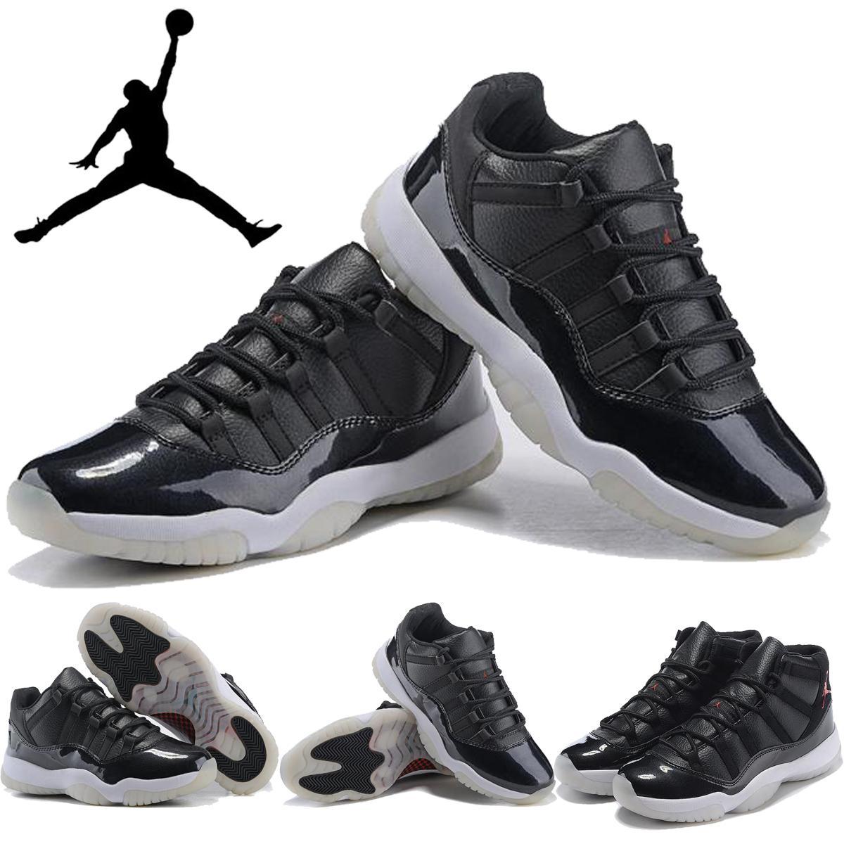 on sale 18b02 f6515 Nike Air Jordan 11 72 10 High And Low Black White Red Mens Basketball Shoes,Jordan  Retro XI AJ11 Men Shoe Sneakers Size 8 13 Shoes Online Walking Shoes From  ...