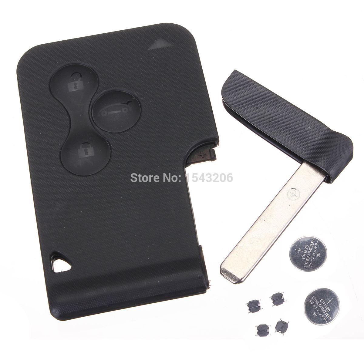 best car remote key shell case kit battery switch blade for renault clio megane scenic under 16. Black Bedroom Furniture Sets. Home Design Ideas