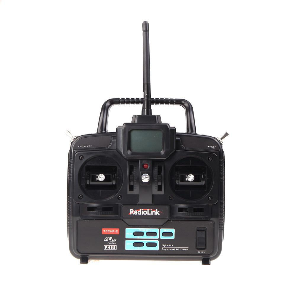 RadioLink T6EHP-E 2.4G 6CH Radio Control System Transmitter w/ R7EH 7CH Receiver for RC Helicopter Model 2 order<$18no track
