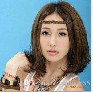 Big discount Hair Accessories Elasticity Serratula Weave Wig With Braids Hair Bands Headdress