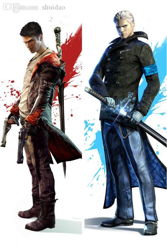 Wholesale devil may cry dante vergil dakimakura hugging pillow wholesale devil may cry dante vergil dakimakura hugging pillow case 1004full color down pillow knee pillow from shuidao 5006 dhgate voltagebd Images
