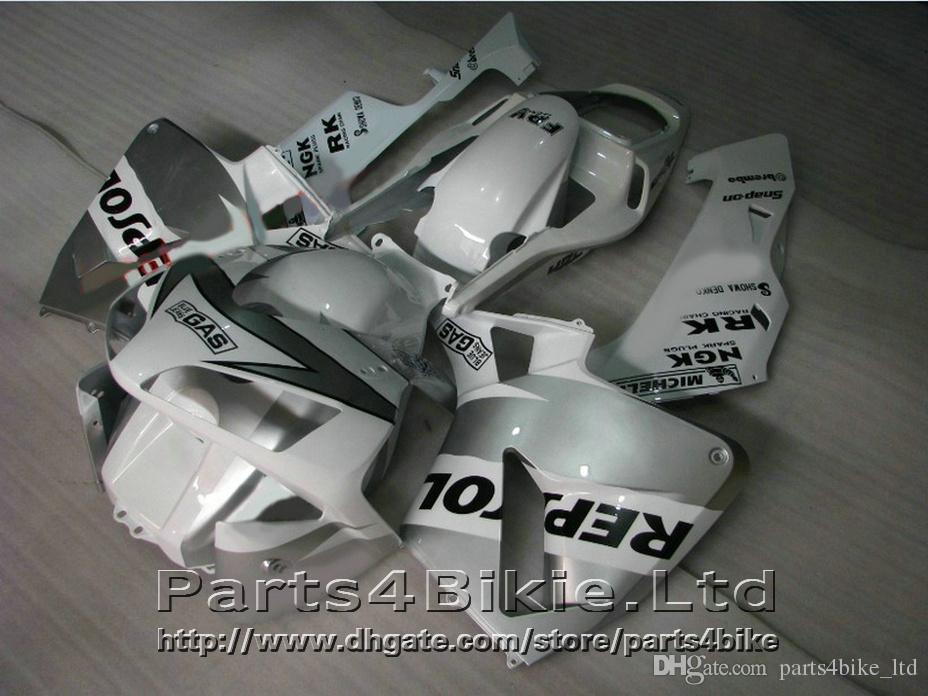 Идеальный ABS REPSOL мотоцикл кузов для Honda CBR600RR 2003 2004 обтекатель комплект CBR 600 RR белый обтекатели стиль CBR 600RR 03 04 DYUW