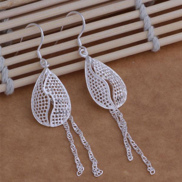Fashion Jewelry Manufacturer a Drop Tassel earrings 925 sterling silver jewelry factory price Fashion Shine Earrings AE008