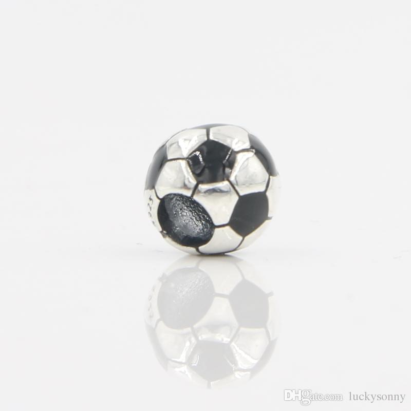 Wholesale Good Quality Women Pandora Bracelet Original 925 Sterling Silver Football Charm Bead In Lucky Sonny Store LB-06