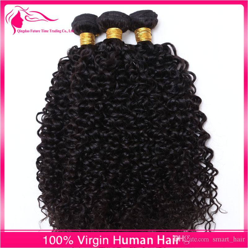 New Kinky Curly Virgin Human Hair Weaves Brazilian Hair Bundles Afro Kinky Curly Hair Extensions For Black Woman Cheap Price