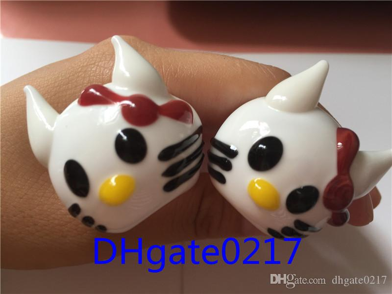 New fashion girls Cute hello Kitty Cat Hand glass pipes Smoking Glass Pipes Dry herb Pipe for smoking