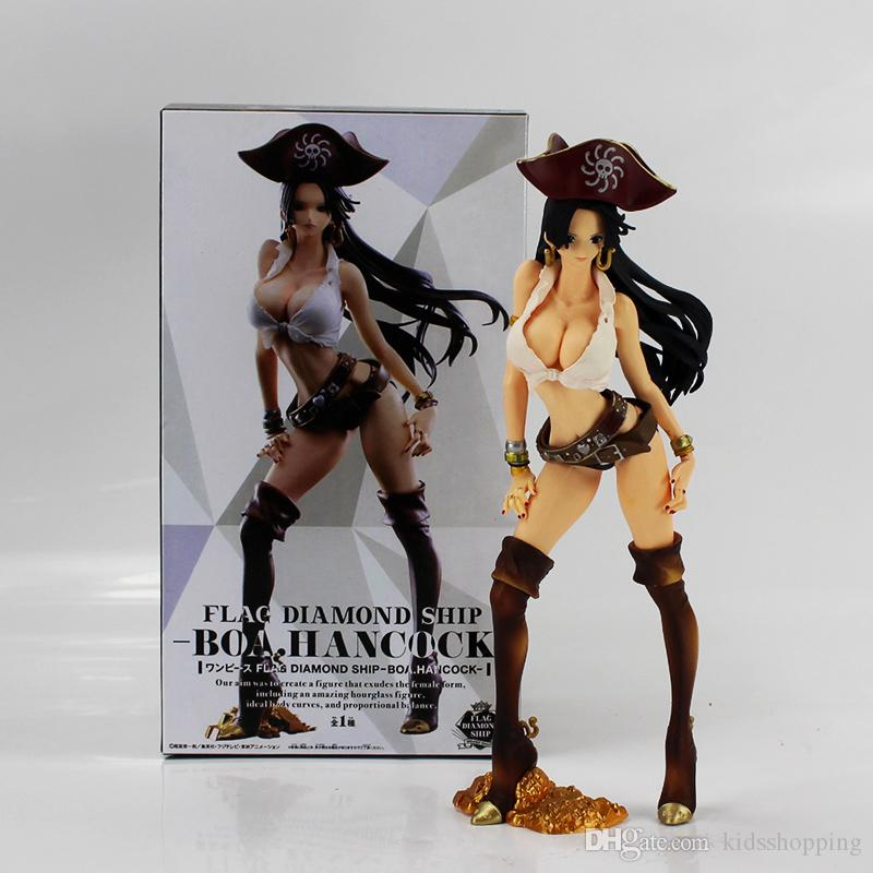 24cm One Piece Boa Hancock Figure Toy Flag Diamond Ship Hancock Pirate Anime Beauty Model Figurine