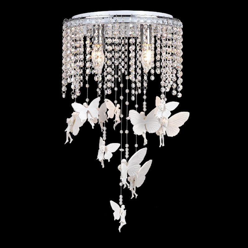 2017 Crystal Angel Girl'S Room Ceiling Lamps Romantic Kid
