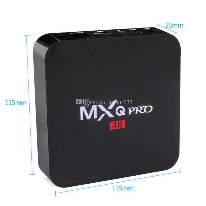 MXQ Pro Android 9 TV 박스 Amlogic S905W 쿼드 코어 4K HD 스마트 미니 PC 1G 8G WiFi H.265 스마트 미디어 플레이어