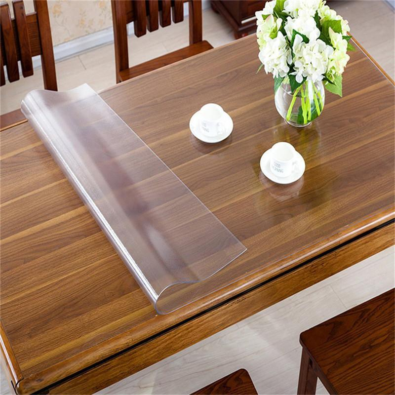 2018 Whole Rectangle Oilproof Table Cover Clear Matte Pvc Tablecloth Desk Protector Cloth Placemat 1 5mm Thickness Decorations From Jiguan