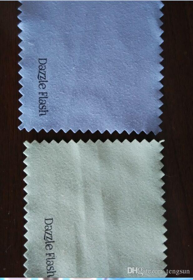Personalizar Logotipo Polaco Paño para plateado Limpiador de joyería de oro azul Rosa verde blanco Blanco Negro Púrpura Colores MEJOR CALIDAD