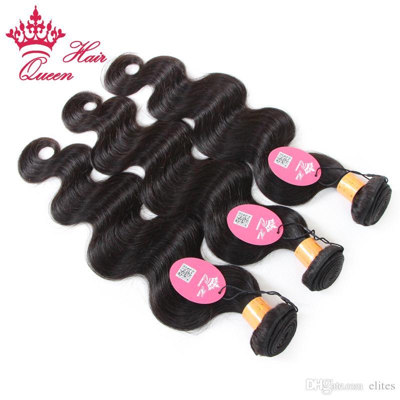 Cabello de la reina 100% sin procesar Indian Virgin Human Weave Wave Wave Virgin Human Hair 12