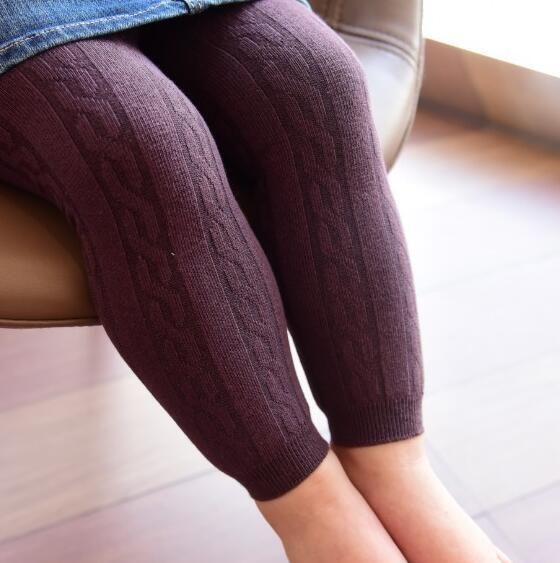 New Autumn Infant Baby Leggings Knitted Capri Pants Girls Cotton Leggings Kids Panty-hose Children Leggings 13572
