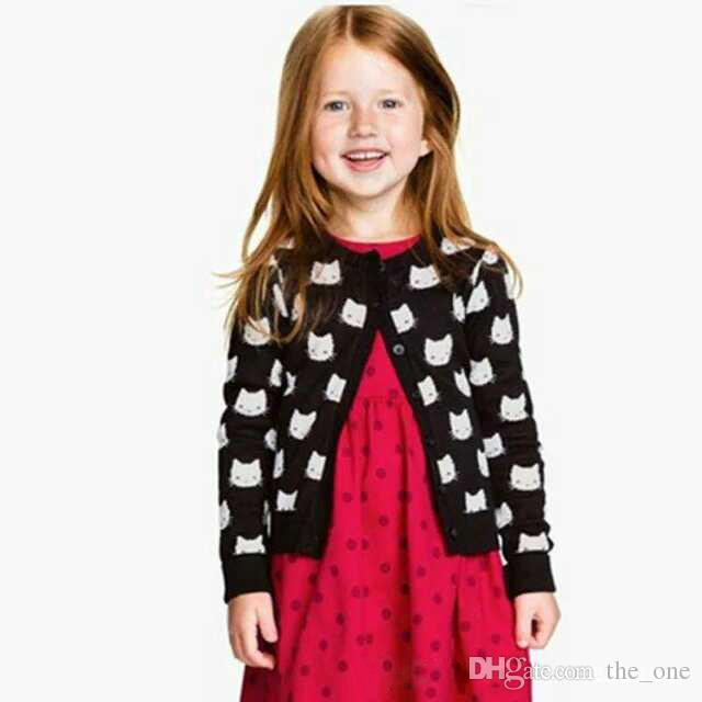 Baby Girl Sweater Coat Children Girl Sweater Long Sleeve Knitted