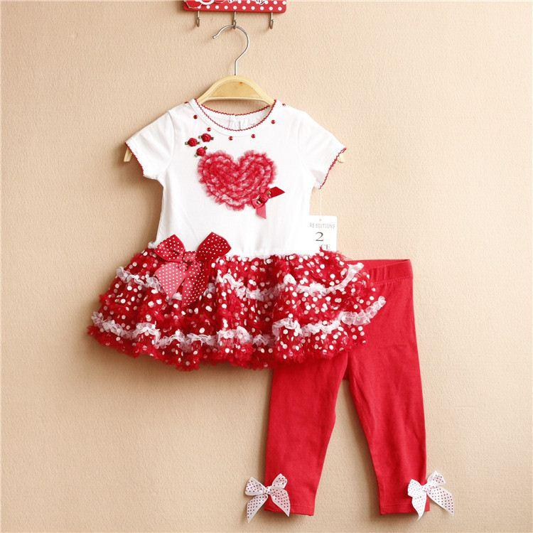 2018 new arrival 6m 3t rare editions girl red valentine heart smart shirt style tutu dress and red pants outfit from mic518 588 dhgatecom - Valentine Dresses For Girls
