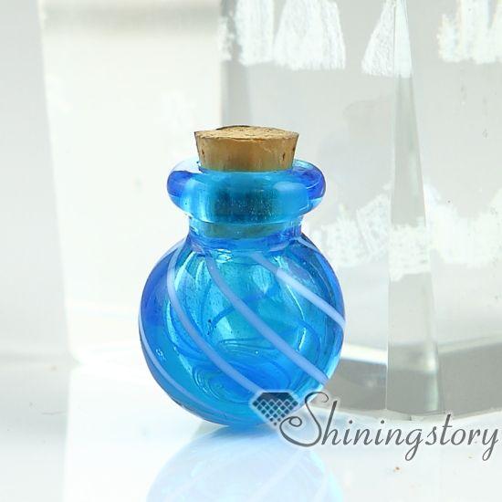 frasco de vidrio colgante para collar pequeñas urnas para cenizas joyas de recuerdo para las cenizas