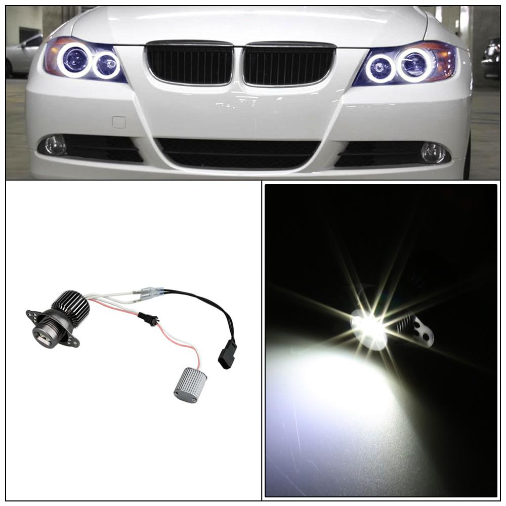 Professional 10W LED Angel Eye Halo Ring Marker Light Bulb for BMW 330i 325i E90 SEDAN E91 WAGON White Car Light Source order<$18no tra