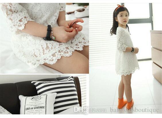 Девочки прекрасные кружева-line платья девушки дети летнее платье
